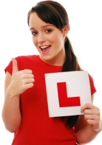 girl with L plate